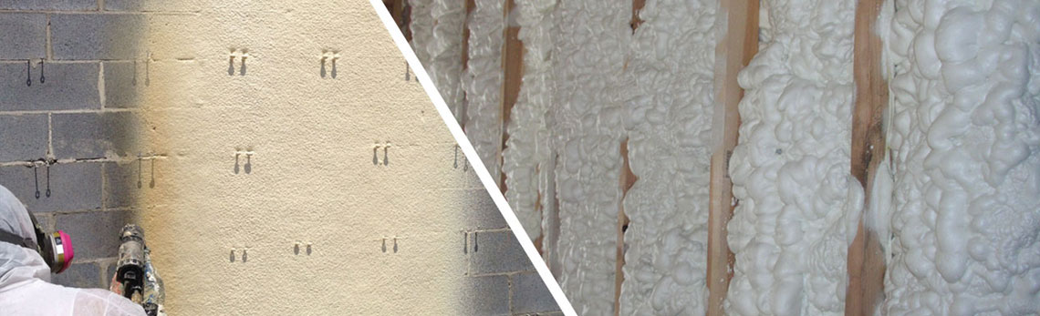 closed-cell and open-cell foam insulation